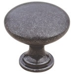 """Custom Service Hardware - 1.25"""" Cast Metal Traditional Mushroom Knob, Black Iron - Go a step beyond in the styling of your home with beautiful decorative hardware. Custom Service Hardware is now offering a wonderful selection of hardware that enables you to show off your unique sense of style in the smallest details. Knob is 1-1/4"""" in diameter. The Matching Cast Metal Traditional Cup Pull is sold separately. Fasteners are not included."""