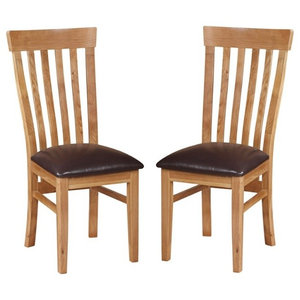 Durant Oak Dining Chairs, Set of 2
