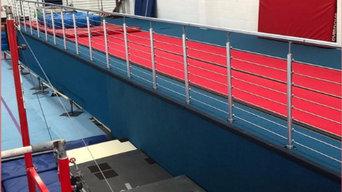 Gymnasium centre handrailing
