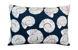 Nautilus Shell Bling Lumbar Pillow