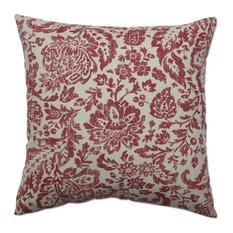 "Fairhaven Damask 18"" Throw Pillow"