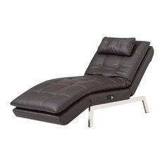 LifeStyle Solutions Relax-A-Lounger Titan Convertible Chaise Lounge In Brown