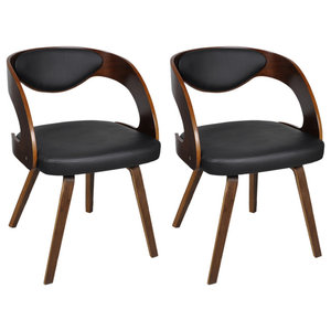 vidaXL Dining Chairs With Padded Bentwood Backrest, Set of 2
