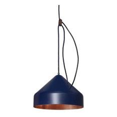 Vij5 Lloop Copper Pendant Lamp, Blue