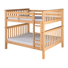 Santa Fe Mission Tall Bunk Bed Full Over Full, Attached Ladder, Natural