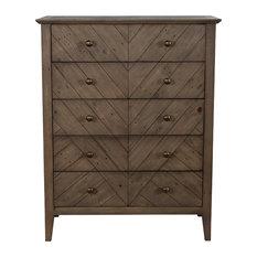 Bowen Reclaimed Pine 5 Drawer Dresser By Kosas Home