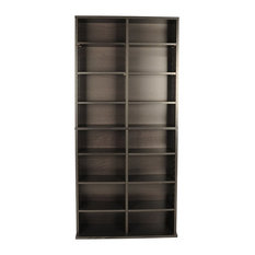Modern Media Cabinet Durable Frame With High Capacity And Adjustable Shelves