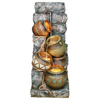 43 in. Indoor and Outdoor Fountain w Potter Pitcher Design