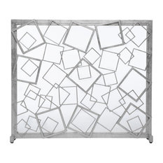 Monterey Fire Screen, Silver