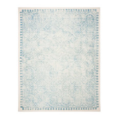 Safavieh Dip Dye Collection DDY211 Rug, Light Green/Ivory, 8'x10'
