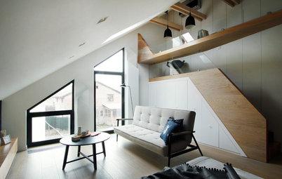 Проект недели: Спальня с кабинетом в мансарде