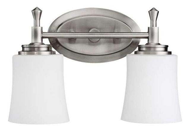 Wharton 2-Light Bathroom Vanity Lights, Brushed Nickel
