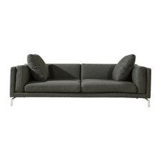 Karl Basil Modern Contemporary Sofa Charcoal Material Cashmere Sofas