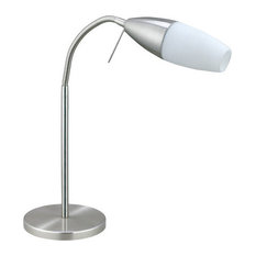 EGLO USA - Eglo Lighting 20137A Inessa 1 Light Table Lamps in Matte Nickel - Table Lamps