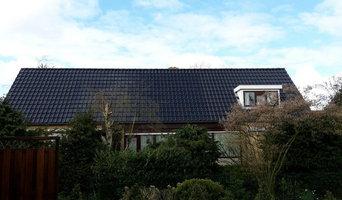 Integrerede solcelle teglsten