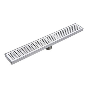 with 3 Different Strainer Grates PVC Drain for Tiled Shower Bases Novalinea