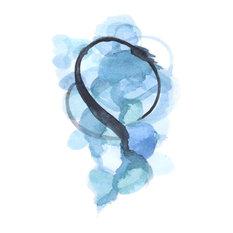 """Pantone Serenity"" Abstract Watercolor Art Print, Blue 24""x36"""