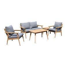 5-Piece Teak Patio Deep Seating Set