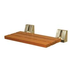 Teak Tilt-Up Seat, Oil Rubbed Bronze