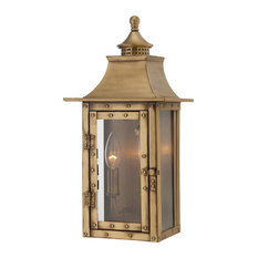 Shop top rated traditional brass outdoor wall lights and sconces houzz acclaim lighting st charles collection wall mount 2 light outdoor light workwithnaturefo