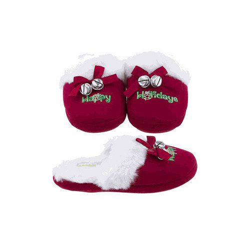 holiday christmas slippers for women