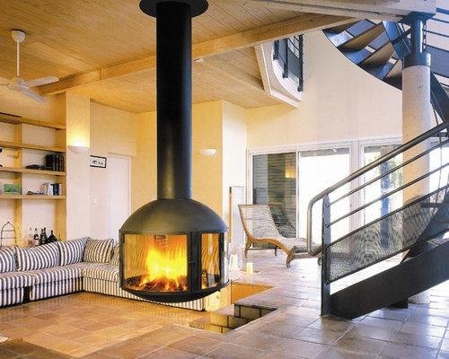 Hanging Fireplace   Houzz