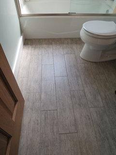 Rectangular Bathroom Floor Tile