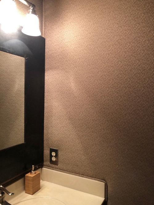 Weird Problem Padded Fabric Walls In Bathroom