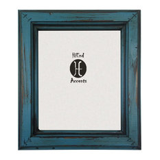 Painted Distressed Wood Frame, 8x10, Turquoise