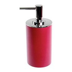 Nameeks Round Free Standing Soap Dispenser Resin Ruby Red Lotion
