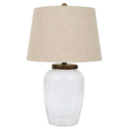 Nice Traditional Table Lamps Fillable Glass Table Lamp With Shade