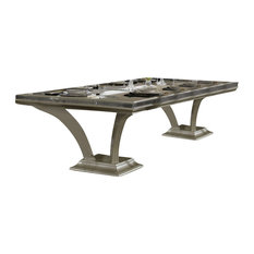 AICO Hollywood Swank Rectangular Dining Table Caviar
