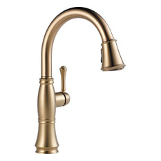 Delta Faucet   Delta Cassidy Single Handle Pull Down Kitchen Faucet,  Champagne Bronze