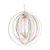 Modern Round Pendant Lamp White Wood - Arrange