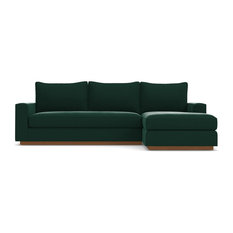 Ordinaire Apt2B   Harper 2 Piece Sectional Sofa, Evergreen Velvet, Chaise On Right