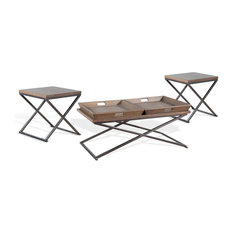 Camel 3-Piece Set: 1 Coffee & 2 End Tables