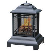 Black Wood Burning Outdoor Firehouse