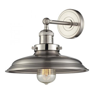 Newberry Collection 1 Light Sconce Satin Nickel