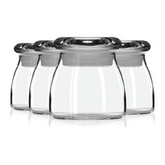 Libbey 4 _ -Spice Jar with Lid Set Additional Vibrant Colors, Clear