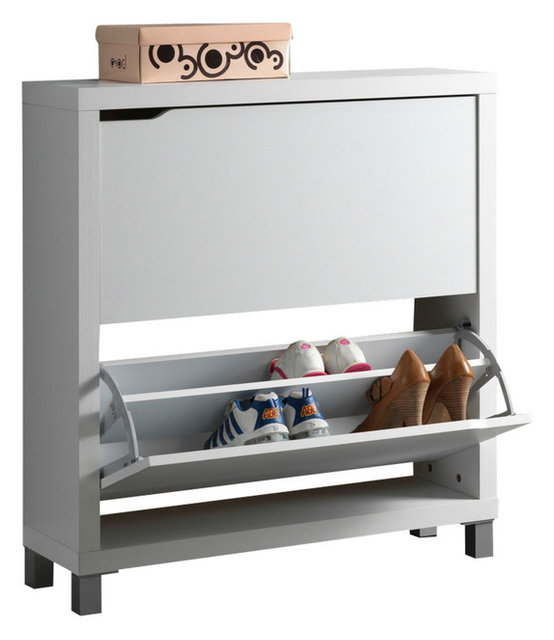 Simms Shoe Cabinet, White