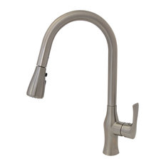 STYLISH Pull Down Kitchen Faucet K-138B Brushed Nickel