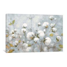 "Cotton Field In Blue Gray by Julia Purinton Canvas Print, 26""x40""x0.75"""