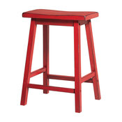 Gaucho Stools, Set of 2, Red, Counter Height