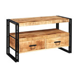 Cosmos Industrial Reclaimed Metal TV Stand