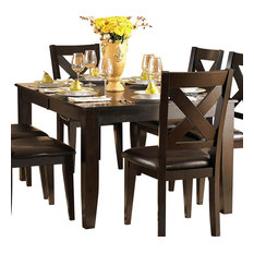 Homelegance Crown Point 7-Piece Dining Room Set Merlot