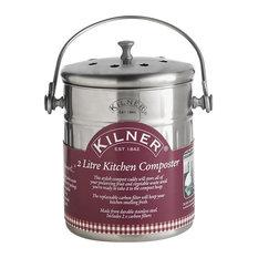 Kilner Stainless Steel Kitchen Compost Bin, 2.0 L