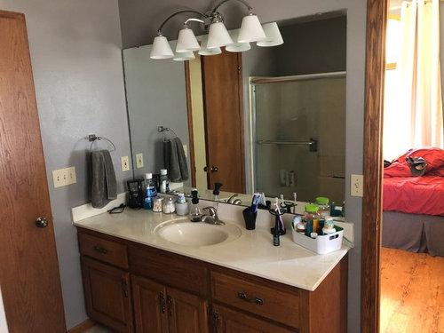 Vanity With Linen Tower, 65 Wide Bathroom Vanity