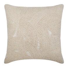 Galaxy Silk Throw Cushion Cover, Ivory, 40x40 cm