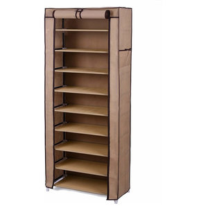 Contemporary Stylish Shoe Storage Rack in Waterproof Fabric with 10 Tiers