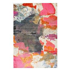 "Vintage Abstract Paisley Rug, Pink, 7'10""x10'10"""